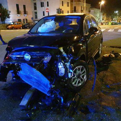 Viale Giostra : scontro tra due auto per mancata precedenza