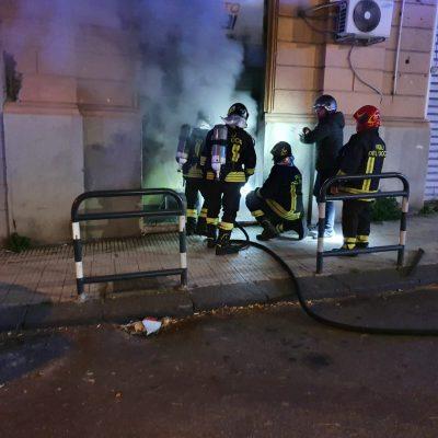 Messina: corto circuito in Punto Snai di via Felice Bisazza