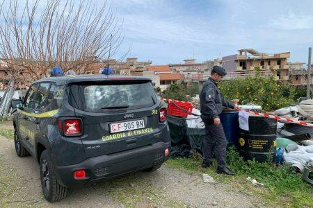 Santa Teresa di Riva: la Guardia di Finanza sequestra discarica abusiva con rifiuti tossici e gasolio di contrabbando