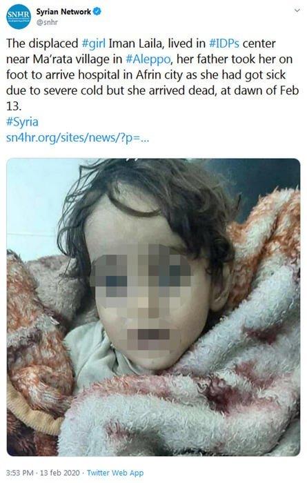 La storia di Iman, morta di freddo tra le braccia del padre che tentava di portarla in ospedale. Aveva un anno e mezzo.