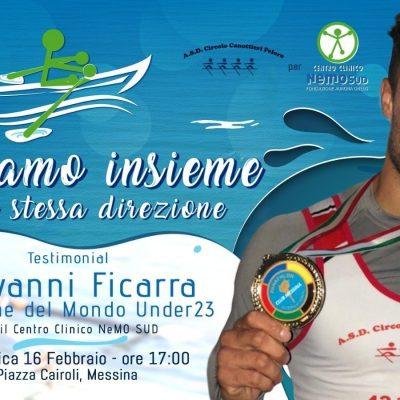 Il campione di canottaggio Giovanni Ficarra vuole battere un record italiano e sostenere NeMO SUD