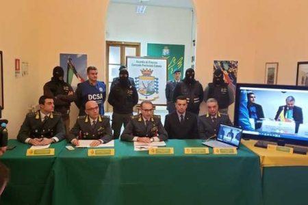 Narcotraffico, arresti e sequestri tra  Sicilia, Spagna, Messico e Colombia