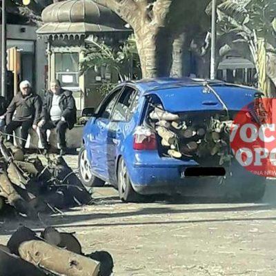 MESSINA, città dove tutto è possibile… Dall'inciviltà del bere al furto di tronchi in piena piazza Cairoli