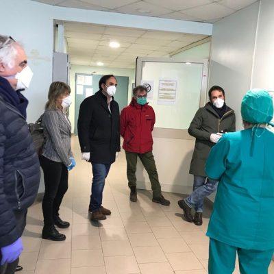 AMATA – GALLUZZO in visita all'Ospedale COVID di Barcellona.