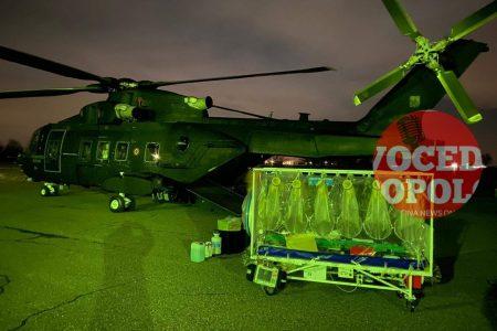 Salina coronavirus: elicottero militare trasporta in ospedale uno dei due positivi al Coronavirus.