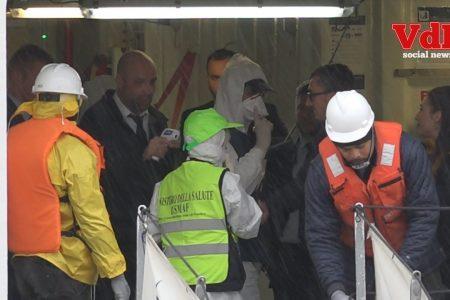 MSC OPERA: Paura reciproca, misurata la temperatura agli operatori saliti a bordo. Nessuna criticità sulla nave.