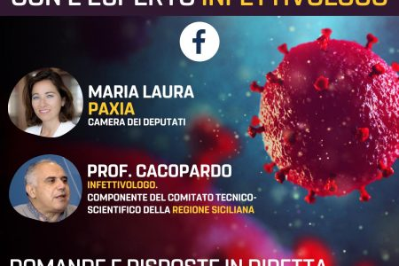La deputata Paxia (M5S) dialogherà con l'infettivologo Cacopardo in diretta Facebook. Spazio alle domande degli utenti