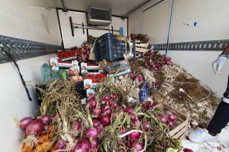 Viale Europa: l'Annona sequestra camion senza targa e frutta e verdura ad ambulante