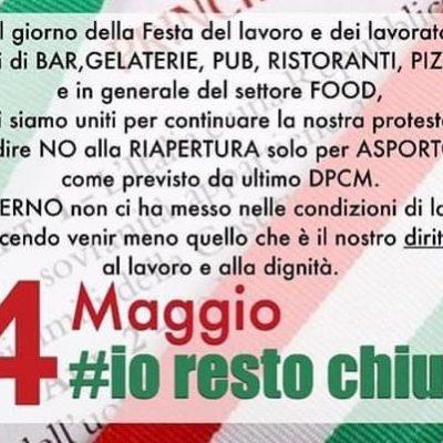 """Fase 2: """"Asporto non ci salva"""", resteranno chiusi i ristoratori di Venetico, Spadafora, Villafranca e Torregrotta. Lettera al Prefetto."""