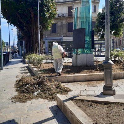 FASE 2 – Disinfezione e  scerbatura straordinaria: Messina servizi Bene Comune prosegue l'attività