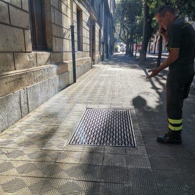 Teatro Vittorio Emanuele: fumo dagli scantinati. Intervenuti Vigili del fuoco