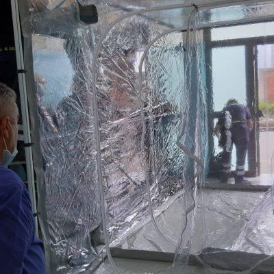 Policlinico Messina – Installato box per autopsie Covid-19