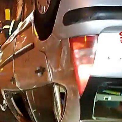 Auto si ribalta sulla tangenziale di Messina