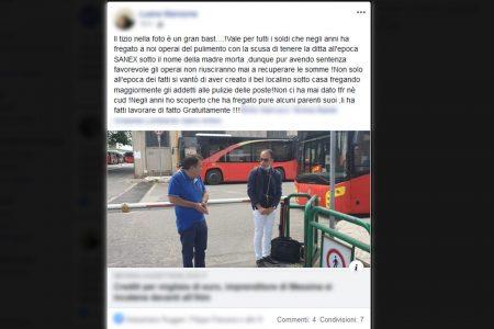 """I dipendenti dell'imprenditore incatenatosi all'ATM raccontano """"un'altra storia""""."""