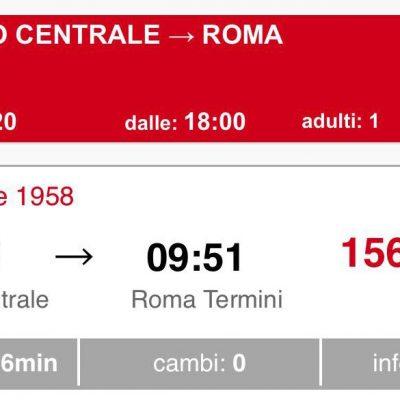 Tornano i treni notte in Sicilia ma il Covid fa lievitare i prezzi