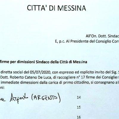 """Sfiducia al Sindaco De Luca, """"Ad essere sfiduciato solo il consigliere Argento"""""""